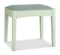 Hampstead Soft Grey and Walnut Dressing Table Stool