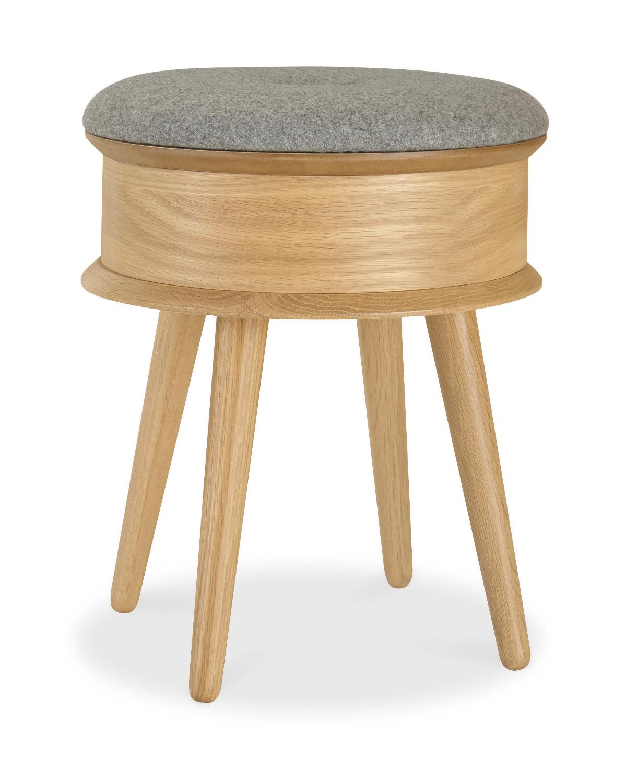 Pine Bedroom Stool Orbit Oak Dressing Table Stool Oak Furniture Solutions