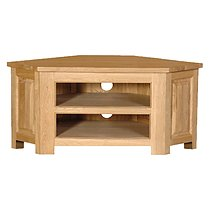 Coach House Quebec Oak Low Corner TV Cabinet