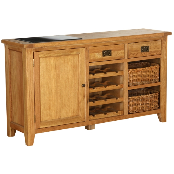 Vancouver Oak Petite 1 Door 2 Drawer 2 Basket Drawer  : vancouver oak petite 1 door 2 drawer 2 basket drawer buffet with wine rack from www.oakfurnituresolutions.co.uk size 600 x 600 jpeg 168kB