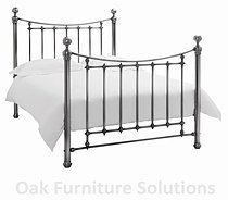 Isabelle Antique Nickel Bedstead - Multiple Sizes